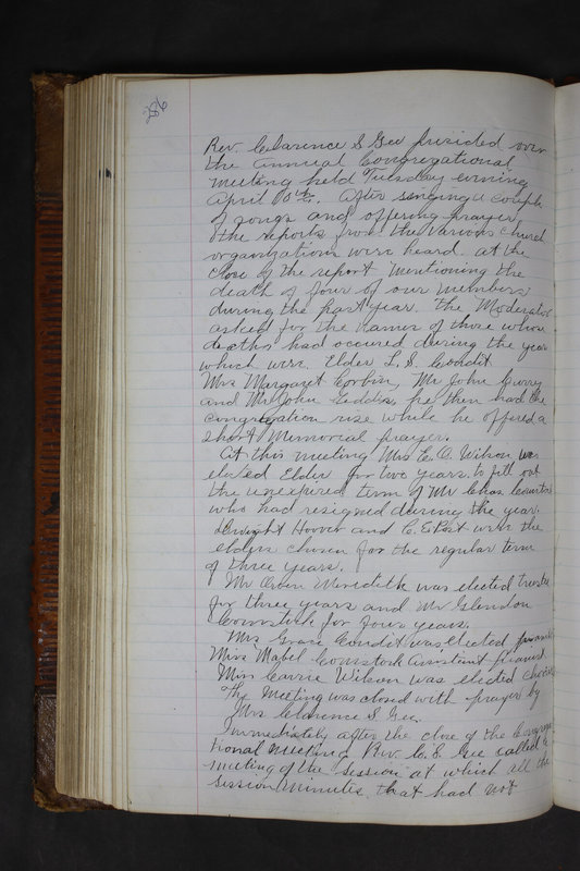 Sessional Records of the 1st Presbyterian Church of Trenton Delaware County Ohio 1873-1937 (p. 273)