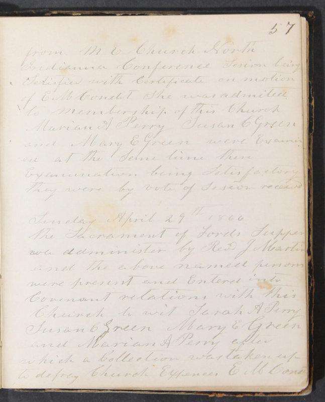Sessional Records of the 1st Presbyterian Church of Trenton, Delaware Co., Ohio, 1831 (p. 63)