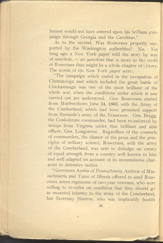 Major-General William Stark Rosecrans (p. 42)