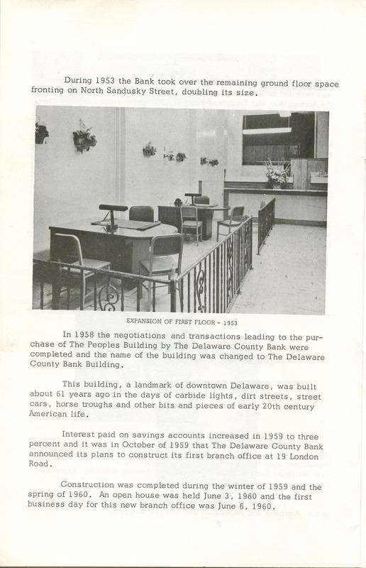 Delaware County Bank 1950-1975 (p. 7)