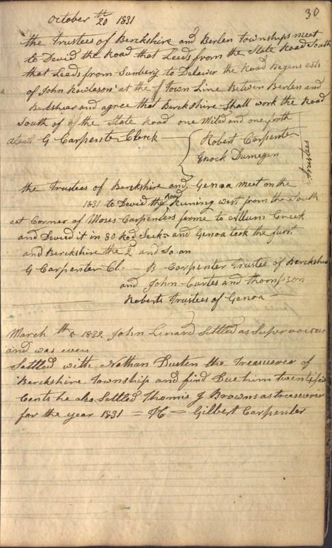 Record Book of Berkshire Township No. 2 1807-1843 (p. 43)
