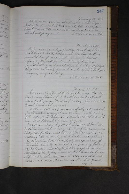 Sessional Records of the 1st Presbyterian Church of Trenton Delaware County Ohio 1873-1937 (p. 235)