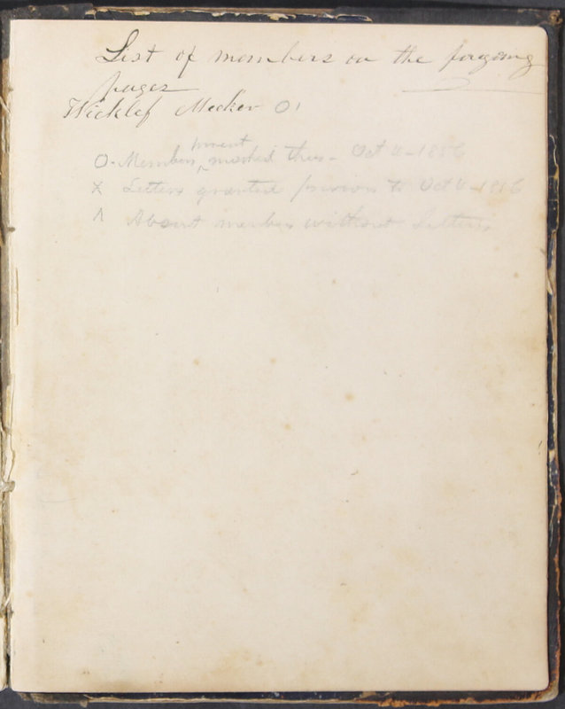 Sessional Records of the 1st Presbyterian Church of Trenton, Delaware Co., Ohio, 1831 (p. 129)