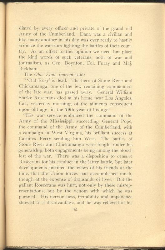 Major-General William Stark Rosecrans (p. 65)