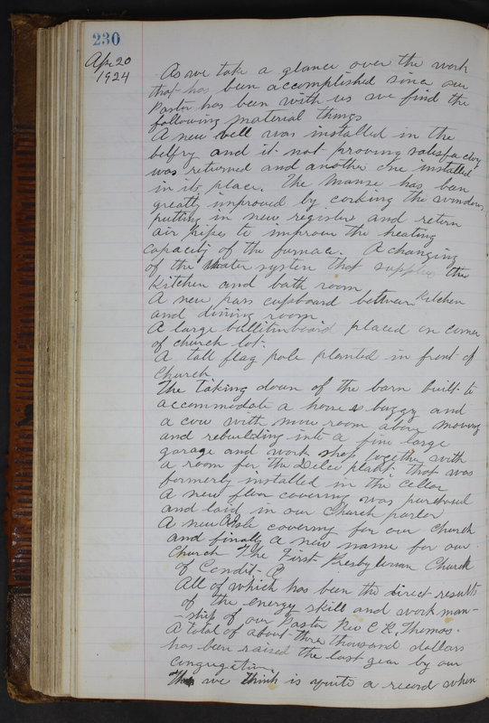 Sessional Records of the 1st Presbyterian Church of Trenton Delaware County Ohio 1873-1937 (p. 218)