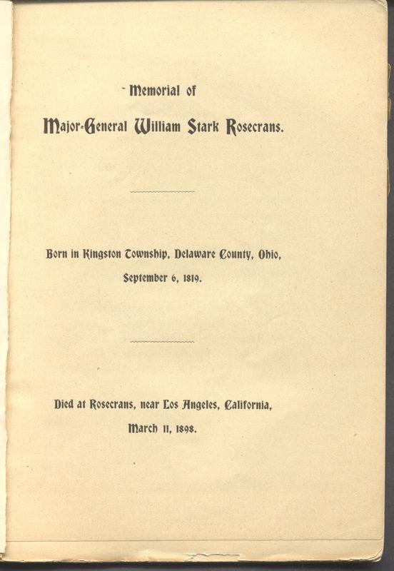 Major-General William Stark Rosecrans (p. 7)