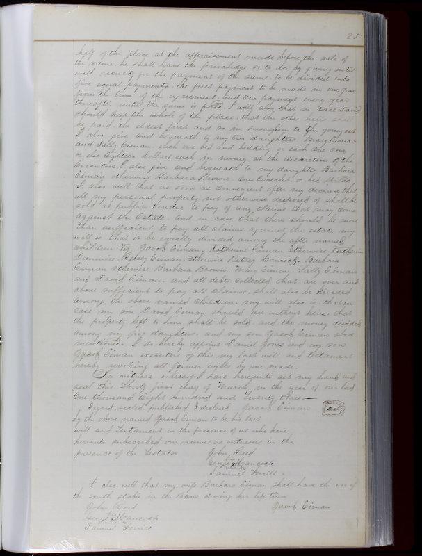 Delaware County Ohio Will Records Vol. 1 1812-1835 (p. 57)
