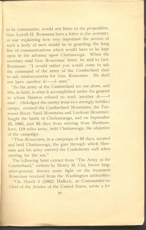 Major-General William Stark Rosecrans (p. 43)