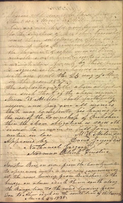 Record Book of Berkshire Township No. 2 1807-1843 (p. 75)