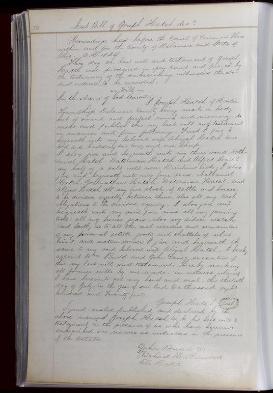 Delaware County Ohio Will Records Vol. 1 1812-1835 (p. 88)