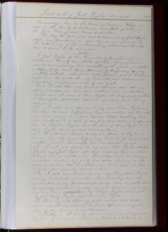 Delaware County Ohio Will Records Vol. 1 1812-1835 (p. 153)