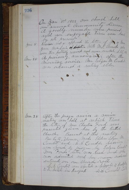 Sessional Records of the 1st Presbyterian Church of Trenton Delaware County Ohio 1873-1937 (p. 214)