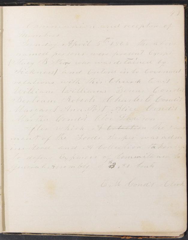 Sessional Records of the 1st Presbyterian Church of Trenton, Delaware Co., Ohio, 1831 (p. 49)