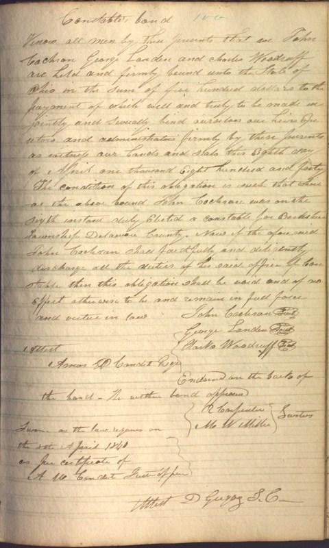 Record Book of Berkshire Township No. 2 1807-1843 (p. 113)