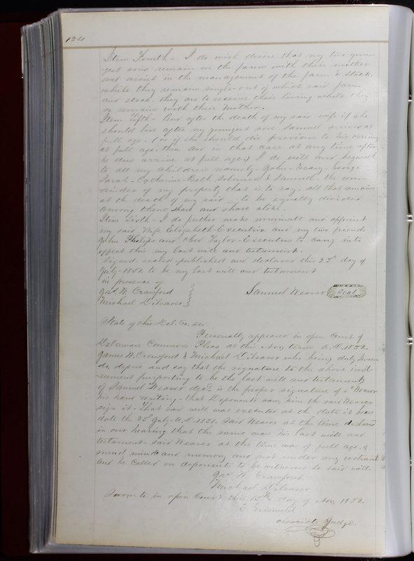 Delaware County Ohio Will Records Vol. 1 1812-1835 (p. 156)