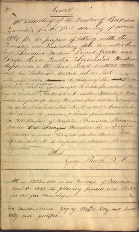 Record Book of Berkshire Township No. 2 1807-1843 (p. 18)