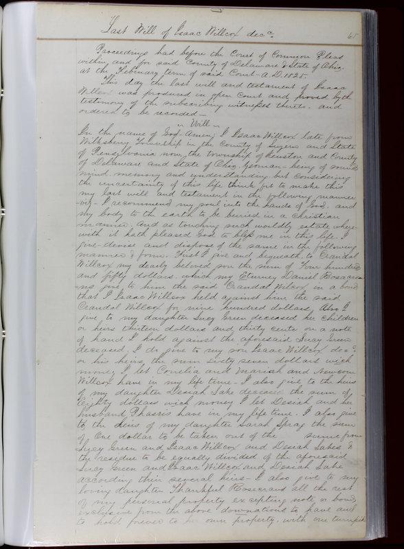 Delaware County Ohio Will Records Vol. 1 1812-1835 (p. 97)