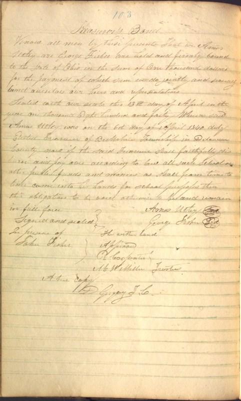 Record Book of Berkshire Township No. 2 1807-1843 (p. 116)