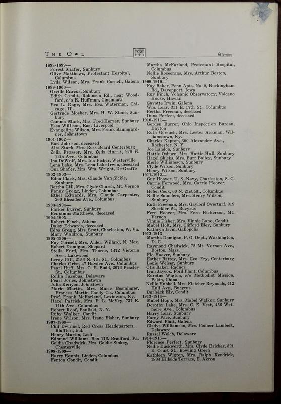 The Owl, Vol. II, 1922 (p.53)