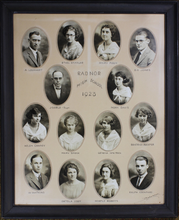 Radnor High School Senior Class Picture 1923