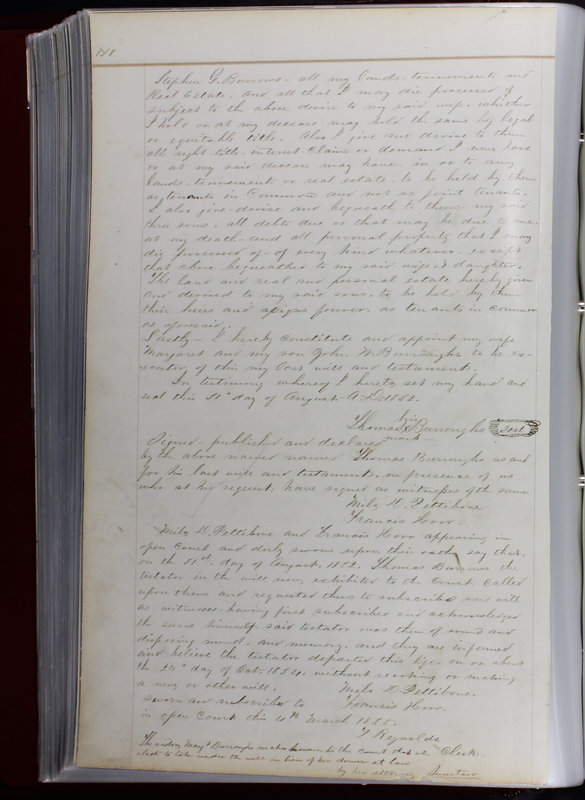 Delaware County Ohio Will Records Vol. 1 1812-1835 (p. 170)