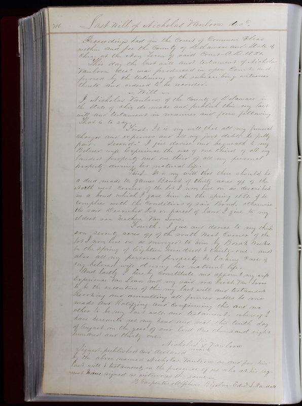 Delaware County Ohio Will Records Vol. 1 1812-1835 (p. 148)