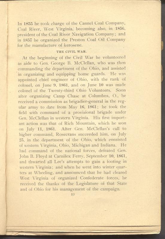 Major-General William Stark Rosecrans (p. 17)