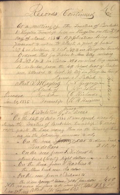 Record Book of Berkshire Township No. 2 1807-1843 (p. 53)