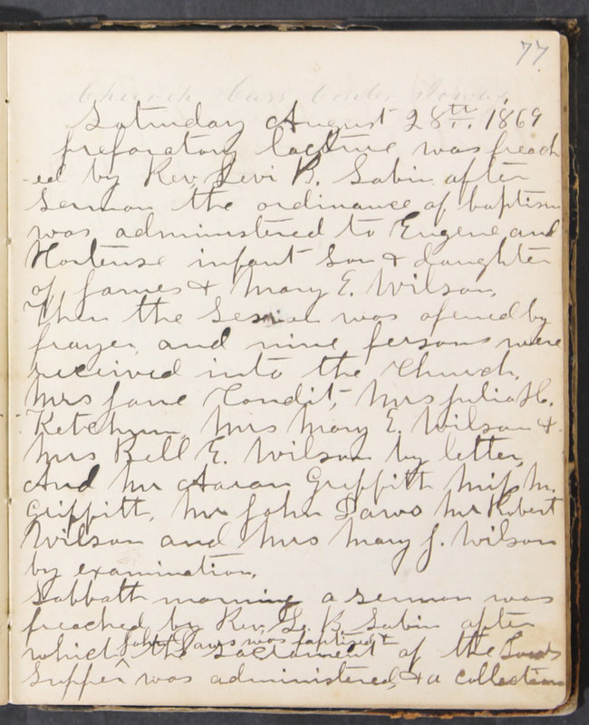 Sessional Records of the 1st Presbyterian Church of Trenton, Delaware Co., Ohio, 1831 (p. 83)