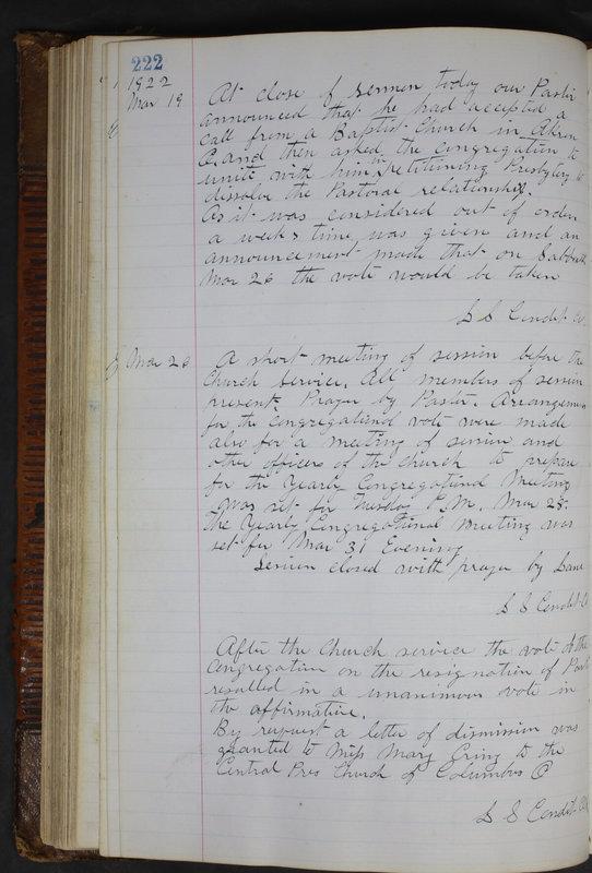 Sessional Records of the 1st Presbyterian Church of Trenton Delaware County Ohio 1873-1937 (p. 210)