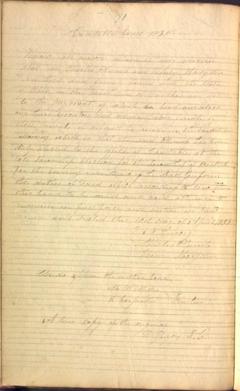 Record Book of Berkshire Township No. 2 1807-1843 (p. 84)