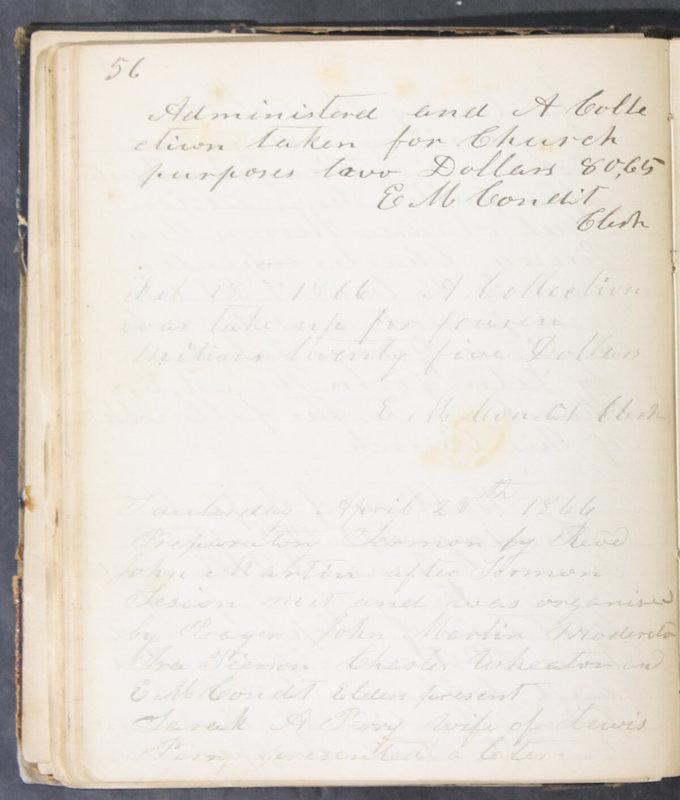 Sessional Records of the 1st Presbyterian Church of Trenton, Delaware Co., Ohio, 1831 (p. 62)