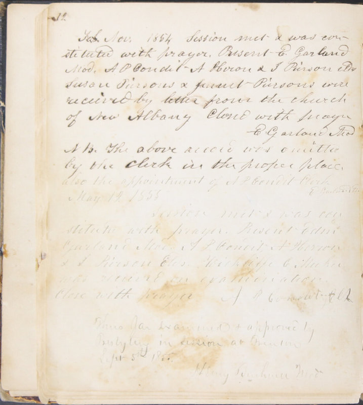 Sessional Records of the 1st Presbyterian Church of Trenton, Delaware Co., Ohio, 1831 (p. 18)
