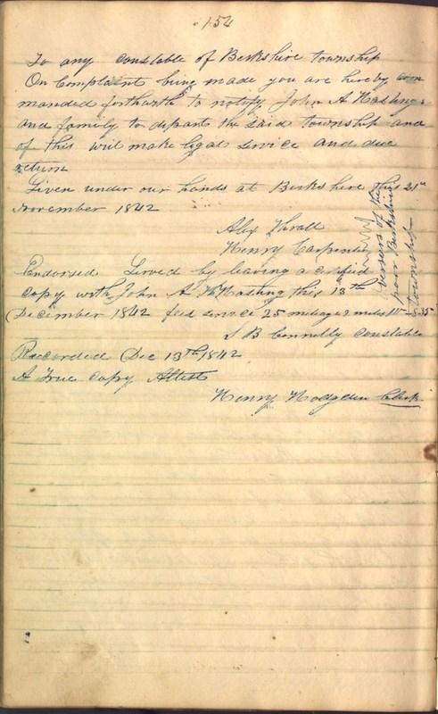 Record Book of Berkshire Township No. 2 1807-1843 (p. 168)