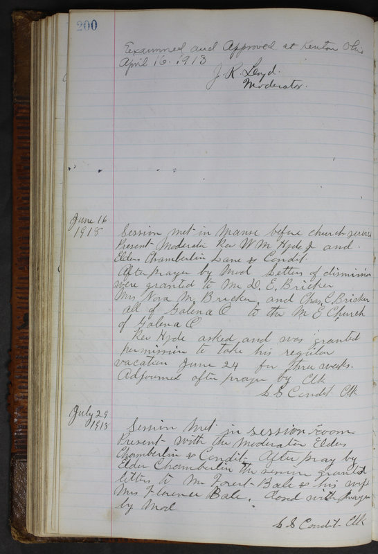 Sessional Records of the 1st Presbyterian Church of Trenton Delaware County Ohio 1873-1937 (p. 188)