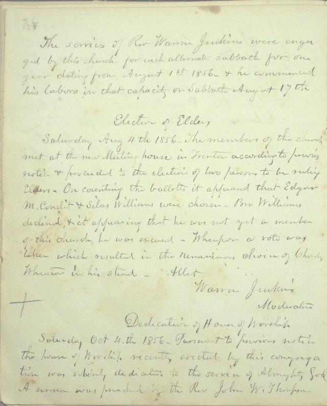 Sessional Records of the 1st Presbyterian Church of Trenton, Delaware Co., Ohio, 1831 (p. 20)