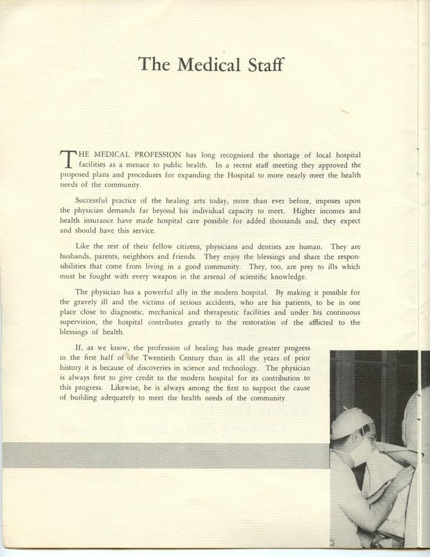 The Jane M. Case Hospital Building Campaign (p. 4)