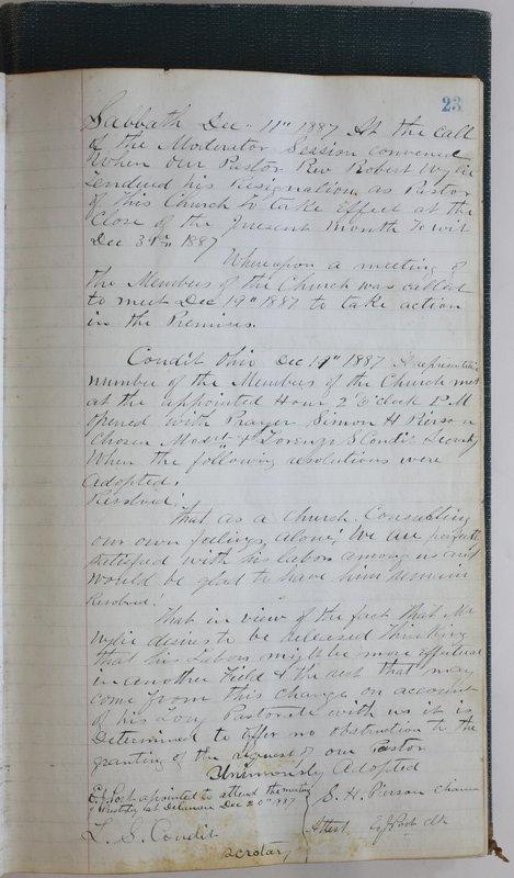 Sessional Records of the 1st Presbyterian Church of Trenton Delaware County Ohio 1873-1937 (p. 27)