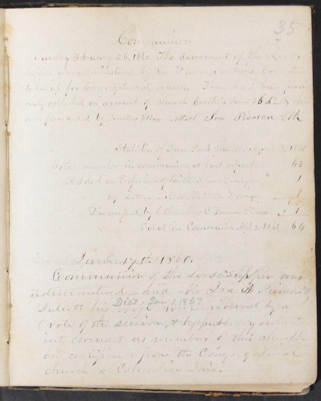 Sessional Records of the 1st Presbyterian Church of Trenton, Delaware Co., Ohio, 1831 (p. 41)