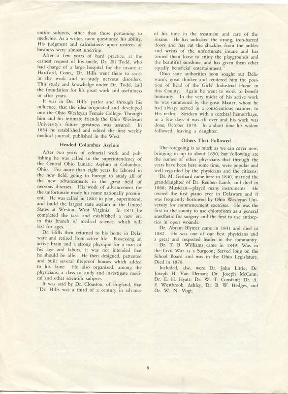 A Short History of Medicine and the Physicians Of Delaware County, Ohio (p. 8)