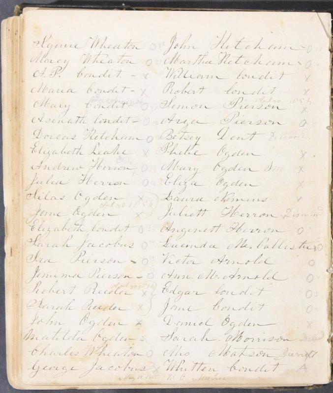 Sessional Records of the 1st Presbyterian Church of Trenton, Delaware Co., Ohio, 1831 (p. 128)