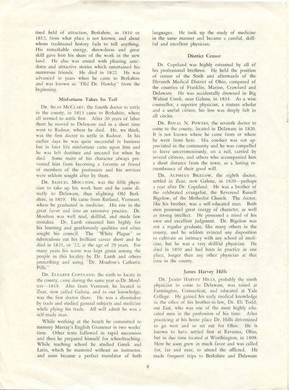 A Short History of Medicine and the Physicians Of Delaware County, Ohio (p. 6)