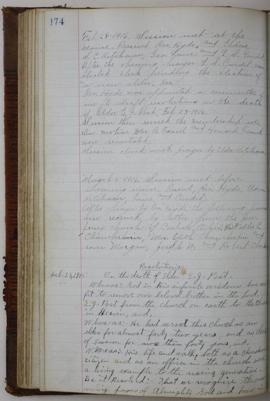 Sessional Records of the 1st Presbyterian Church of Trenton Delaware County Ohio 1873-1937 (p. 164)