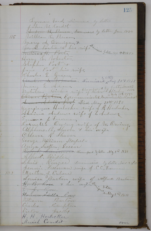 Sessional Records of the 1st Presbyterian Church of Trenton Delaware County Ohio 1873-1937 (p. 117)