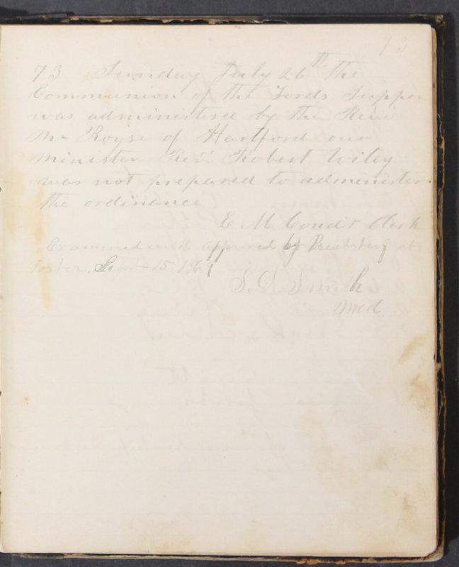 Sessional Records of the 1st Presbyterian Church of Trenton, Delaware Co., Ohio, 1831 (p. 79)