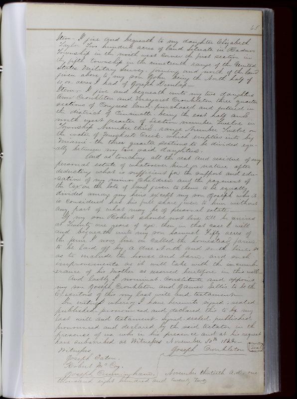 Delaware County Ohio Will Records Vol. 1 1812-1835 (p. 95)