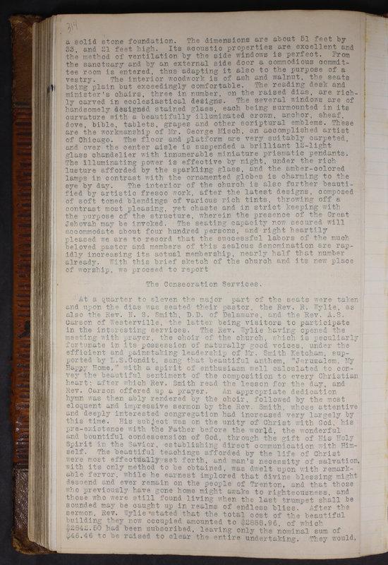 Sessional Records of the 1st Presbyterian Church of Trenton Delaware County Ohio 1873-1937 (p. 301)