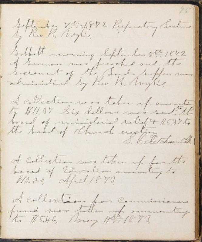 Sessional Records of the 1st Presbyterian Church of Trenton, Delaware Co., Ohio, 1831 (p. 101)
