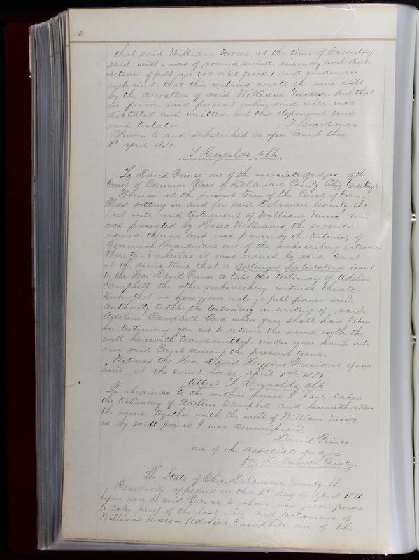 Delaware County Ohio Will Records Vol. 1 1812-1835 (p. 142)