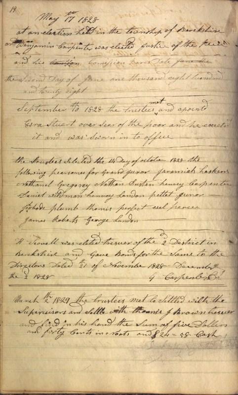 Record Book of Berkshire Township No. 2 1807-1843 (p. 32)